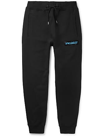 Helmut Lang Slim-fit Tapered Logo-print Cotton-jersey Sweatpants - Black