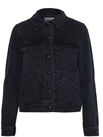 Derek Lam Derek Lam Woman Denim Jacket Charcoal Size XL