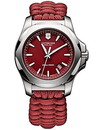 Victorinox by Swiss Army Swiss Army I.N.O.X. Paracord 241744.1 Red Quartz Mens Watch