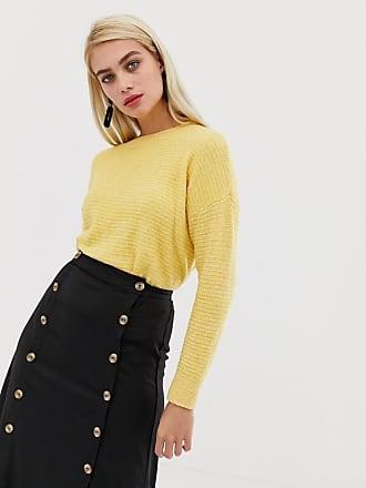 Vero Moda Texture Stripe Sweater - Yellow