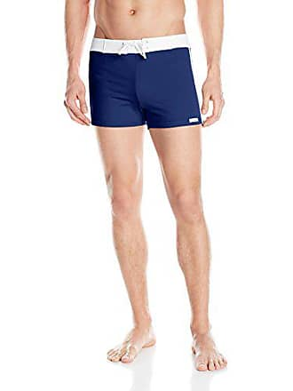 59f369c5454b0 Delivery: free. Sauvage Mens Retro Lycra Solid Swim Trunk, Navy, Large