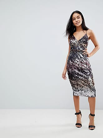 Club L Club L Ombre Sequin Midi Dress - Multi