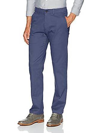 Haggar Mens Coastal Comfort Straight Fit Superflex Waist Flat Front Pant, Blue, 34Wx32L