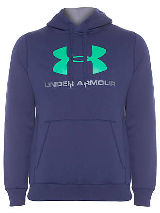Under Armour MOLETOM MASCULINO RIVAL FITTED GRAPHIC HOODIE - AZUL MARINHO