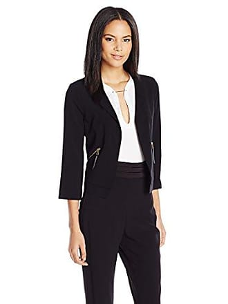 Guess GUESS Womens Three-Quarter Sleeve Cropped Casey Jacket, Jet Black Small