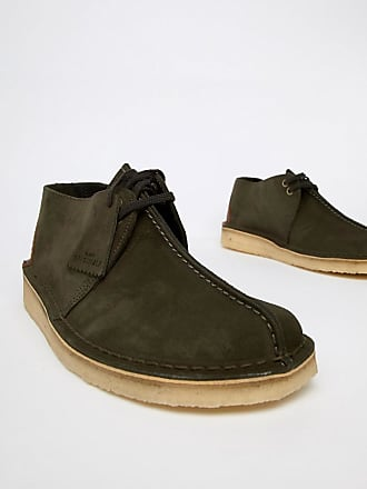 f3e63647ab3b Clarks desert trek shoes in dark green suede
