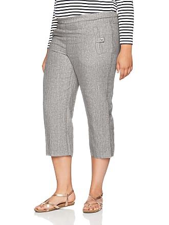 d63b1229d32 Ulla Popken Womens Plus Size Wide Leg Linen Pants Grey Melange 34 667051  14-60