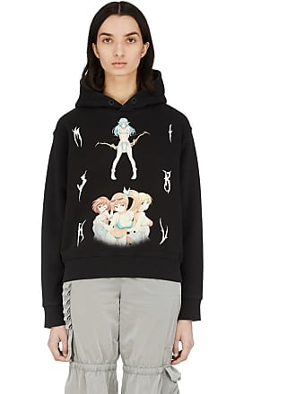 Misbhv Double Anime Hoodie - Washed Black