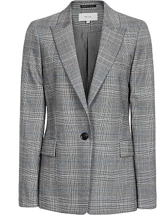 a0ad9bf3ce6dc Reiss Joss Jacket - Slim Fit Checked Blazer in Grey