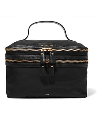 Anya Hindmarch Vanity Kit Leather-trimmed Cosmetics Case - Black
