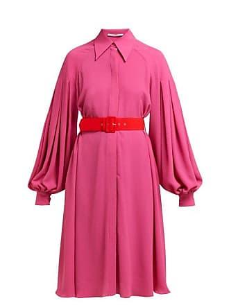 Emilia Wickstead Clarisse Crepe Balloon Sleeve Dress - Womens - Pink