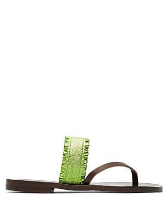 ÁLVARO GONZÁLEZ Alberta Leather Sandals - Womens - Green