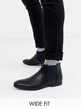 Truffle wide fit chelsea boot in black