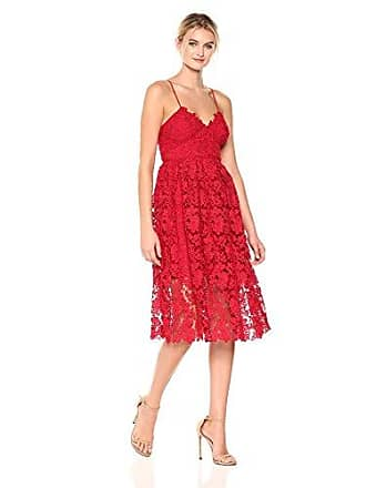 16125bb1a96 Donna Morgan Womens Chemical Lace Spaghetti Strap Midi Dress