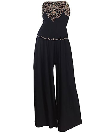 e61c4e51569 Balmain Exceptional Vintage Pierre Balmain Black Strapless Jumpsuit W   Regal Embroidery