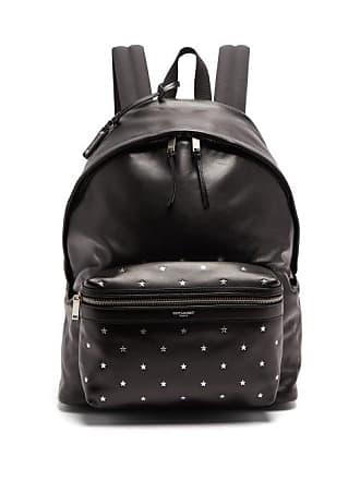 697d2d7e748 Saint Laurent City Star Stamped Leather Backpack - Mens - Black