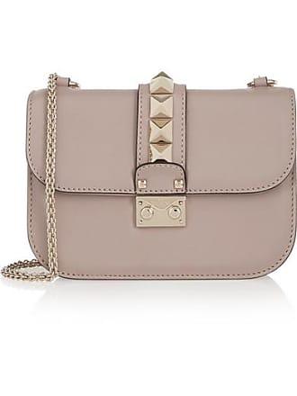 25aa726aaab5 Valentino Valentino Garavani Lock Small Leather Shoulder Bag - Blush