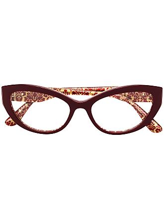 dd14b3773d3d6 Dolce   Gabbana Eyewear Armação de óculos gatinho - Vermelho