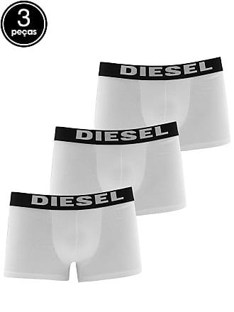 Diesel Kit 3 Pçs Cueca Diesel Boxer Logo Branco
