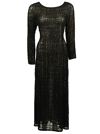 b409aa85e67 Giorgio Armani Geometric Pattern Black Beaded Gown Size 44