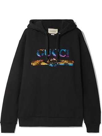 7015f3859f7 Gucci Sequin-embellished Cotton-jersey Hoodie - Black