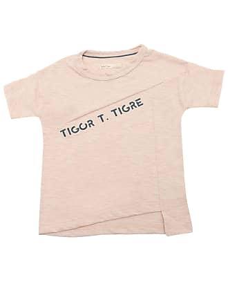 Tigor T. Tigre Camiseta Tigor T. Tigre Menino Escrita Nude
