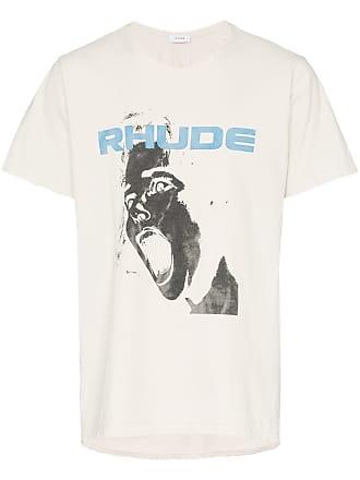 Rhude Camiseta com estanpa de slogan - Branco