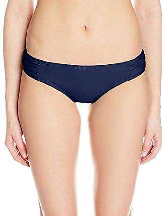 Quintsoul Womens Midrise Retro Tab-Side Full-Coverage Bikini Bottom, Navy, 8