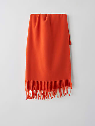 Acne Studios Canada New Bright Red Fringed scarf