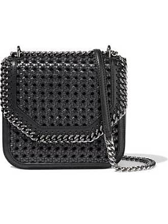 a5a586ebfd Stella McCartney Stella Mccartney Woman The Falabella Box Medium Woven Faux  Leather Shoulder Bag Black Size