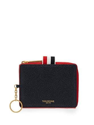 Thom Browne Pebbled Leather Wallet - Mens - Red Multi