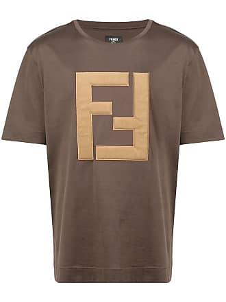 Fendi Camiseta com logo FF - Marrom