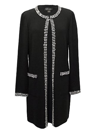 b973c048711d St. John St John Long Knitted Jacket With White Trimming