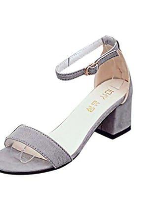 34cabae53fa4c5 Hunpta Damen Einzel Band Chunky Heel Sandale mit Ankle Strap Sandalen  Sommerschuhe (EU 38
