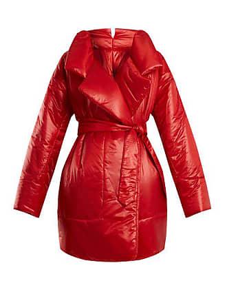Norma Kamali Sleeping Bag Knee Length Coat - Womens - Red