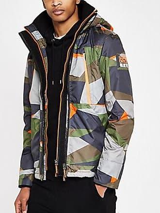 b180f7654b55d Superdry Mens Superdry Green hooded polar jacket