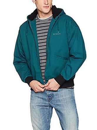 Obey Mens Dillinger Hooded Zip Jacket, Pine Small