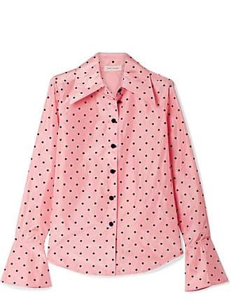 639f261e63155 Marc Jacobs Polka-dot Flocked Silk-taffeta Shirt - Pink