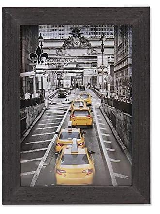 Lawrence Frames 5x7 Soho Black Wood Grain Picture Frame