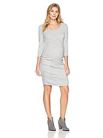 7ce8c13f83d Ingrid   Isabel Womens Shirred Maternity Dress with 3 4 Sleeve (Medium