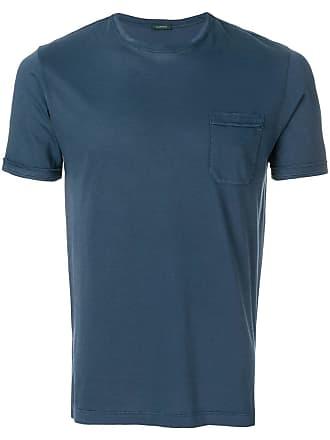 Zanone Camiseta com patch no bolso - Azul