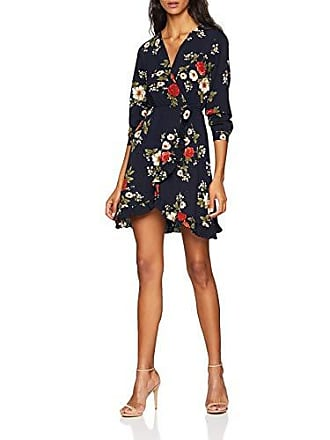 ac9b8142cbd2 Mela Floral Front Frill Dress Vestido, Azul (Navy), 36 (Talla del