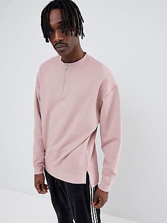 dbd8eea8037776 Asos Oversize-Sweatshirt in Pink mit halblangem Reißverschluss - Rosa
