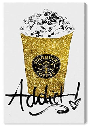 The Oliver Gal Artist Co. The Oliver Gal Artist Co. Drinks and Spirits Wall Art Canvas Prints Glitter Fuel Home Décor 40 x 60 Gold, Black