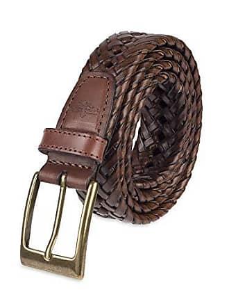 Dockers Mens 1 3/16 in. Glazed Top Braided Belt,Tan,32