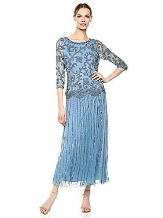 6aaa596e3db Pisarro Nights Womens Long Mock Two Piece Dress with Beaded Motif