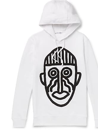 Comme Des Garçons Printed Loopback Cotton-jersey Hoodie - White