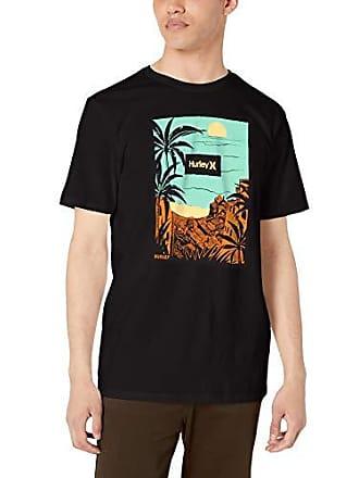 Hurley Mens Premium Short Sleeve Graphic Tshirt Black M
