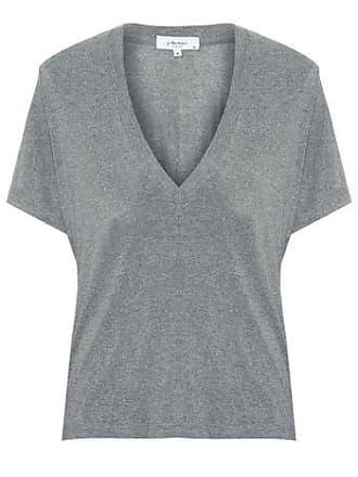 J. Chermann Camiseta Maxi Decote Basic J. Chermann - Cinza
