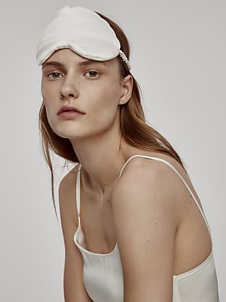 Asceno White Silk Eye Mask